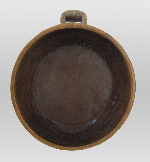 Indonesian Teak Wood Handled Bowl