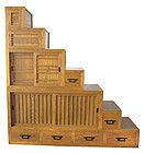 Contemporary Large Kaidan Tansu (Step Chest)