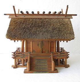 Japanese Thatched Shinmei Style Shinto Shrine