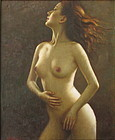 Chinese Oil Painting of Nude Female Figure