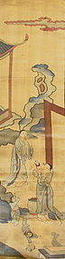 Antique Chinese Acrobatic Scene Kesi Fabric