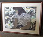 Okiie Hashimoto Woodblock Print