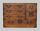 Japanese Antique Six Drawers Small Kiri Tansu