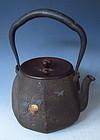 Antique Japanese Ryubundo Tea Kettle Tetsubin
