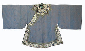 Chinese Embroidered Silk Short Robe for Lady