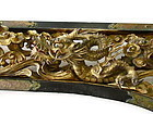 Japanese Antique Carved Butsudan Ranma with Dragons