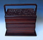 Chinese hardwood Tiered seal case