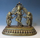 Antique Nepalese  Bronze of Vishnu and Consorts