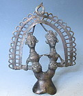 Antique Indian Metal Tribal Statue