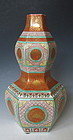 Kutani Ware Hexagonal Gourd Shaped Vase