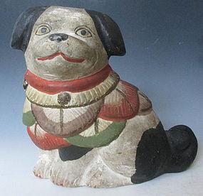 Antique Japanese Dog Fushimi Doll