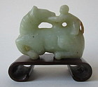Chinese Jade Horse and Monkey Carving