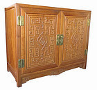 Chinese Carved Hardwood Cabinet