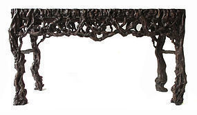 Chinese Rectangular Root Wood Table