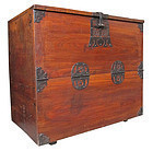 Korean Keyaki Wood Bandaji Blanket Storage Chest