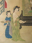 Chinese Beauty Brothel Painting
