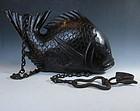 Antique Japanese Wooden Fish Jizai