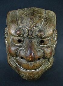 Antique Japanese O-Beshimi Fierce Mask