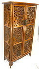 Tall Chinese Hardwood Cabinet