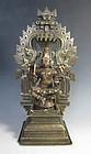 Indian Antique Bronze Figure of Durga