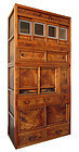 Japanese Antique 2-section Tansu with Shinto Shrine