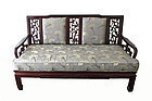 Chinese Carved  Love Seat With Birds