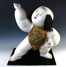 Japanese Edo Period Large Gosho Doll