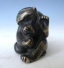 Japanese Bronze Miniature Figure