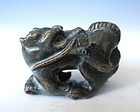 Antique Japanese Bronze Miniature Figure