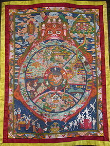 Tibetan Wheel of Life Thangka
