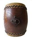Antique Japanese Taiko Drum
