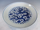 Antique Chinese Porcelain Blue and White Dish