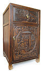 Chinese Antique Carved Side Cabinet