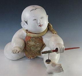 Japanese Antique Gosho-Ningyo Doll with Toy