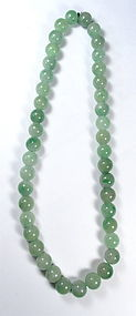 Chinese Large Jadeite Bead Necklace