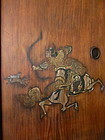 Japanese Antique Pair of Fusuma Doors with Hunters