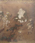 Antique Japanese Painting of Hotei/Budai
