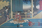 Antique Japanese Woodblock Print by Toyokuni III