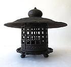 Antique Japanese Iron Lantern
