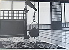 "Japanese Woodblock Print ""Interior"" by Ted Colyer"