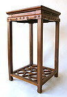 Chinese Antique Jumu Wood Stand with Small Drawer