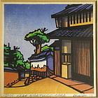 """Japanese Print """"Near Nigetsudo-Nara"""" by C. Karhu"""