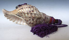Vintage Japanese Conch Shell Horn