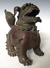 Chinese Bronze Foo Dog Censer