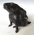 Japanese Bronze Figure of a Rabbit