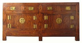 Chinese Large Double-Sided Chest with Lacquer Interior