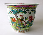 Chinese Bird Porcelain Planter