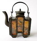 Vintage Chinese Pewter Tea Pot