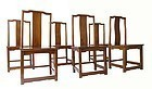 Chinese Set of Six Pearwood Chairs