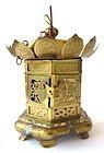 Antique Japanese Converted Temple Lantern
